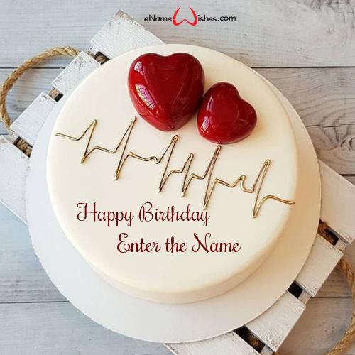 Fine Love Birthday Cake With Name Generator Enamewishes Personalised Birthday Cards Veneteletsinfo