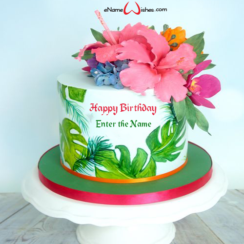Tremendous Customize Birthday Cake With Name Enamewishes Personalised Birthday Cards Cominlily Jamesorg
