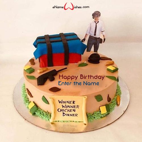 Prime Pubg Birthday Cake With Name Edit Enamewishes Birthday Cards Printable Inklcafe Filternl
