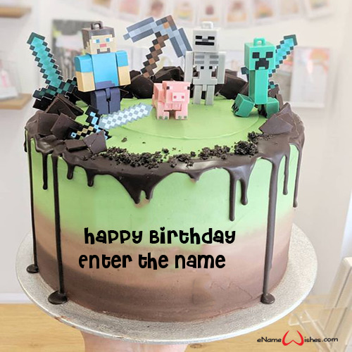Minecraft Cake With Name Enamewishes