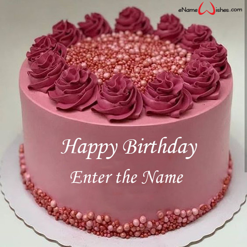 Personalised Birthday Cake With Name Edit Enamewishes