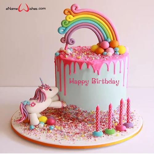 Happy Birthday Motto Multicoloured Cake Decoration
