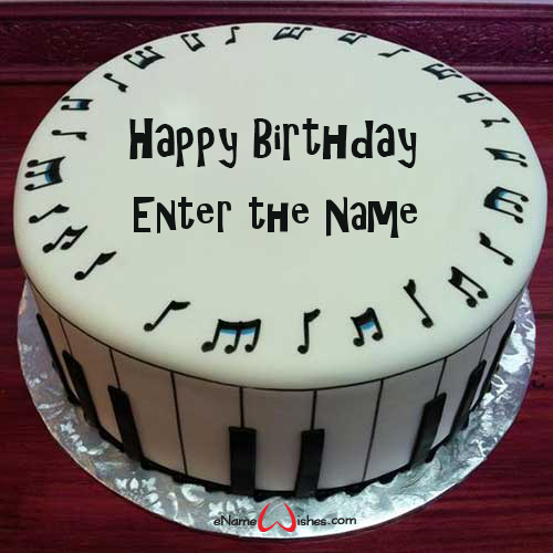 Best Musical Birthday Name Wish Cake