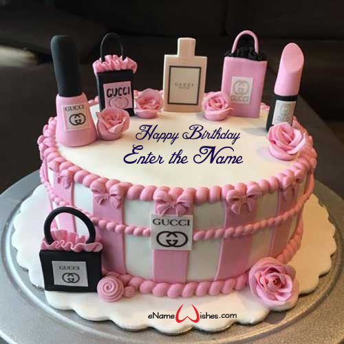 Excellent Gucci Name Birthday Wish Cake Enamewishes Funny Birthday Cards Online Aeocydamsfinfo